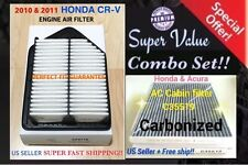 Engine & Carbonized Cabin Air Filter for HONDA CRV 10-11 CR-V AF6119 C35519