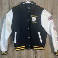 Pittsburgh Steelers NFL Team Apparel Super Bowl Champions Women's Large Jacket