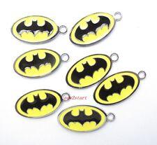10 Pcs Batman Logo Enamel Charms Metal Pendants DIY Jewelry Making Gift P08