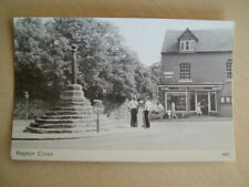 B&W Postcard - REPTON CROSS. Unused.  Standard size.