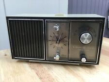 Vinatage Mid Century General Electric Solid State AM Only Clock Radio