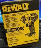 "DEWALT DCF890B 20V Max Lithium Ion 20V 3/8"" IMPACT Wrench  in Retail Box NEW"