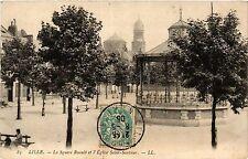 CPA Lille-La Square Ruault et l'Eglise Saint-Sauveur (422735)