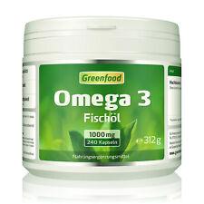 Greenfood Omega 3 Fischöl, 1000mg, hochdosiert, 240 Kapseln