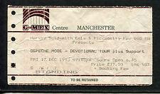 Original Depeche Mode 1993 concert ticket stub Devotional Tour Manchester UK