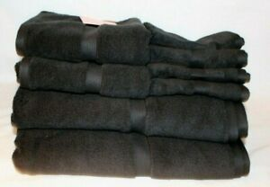 Kate Spade Eight Piece Bathroom Towel Set Solid Black 100% Cotton New