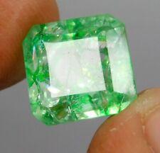 6.05 CT Natural Beautiful Emerald Cut Colombian Green Emerald Loose Gemstone