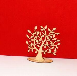 Baum Lebensbaum stehend mit Unterplatte zum Basteln als Tisch Deko Jubiläum