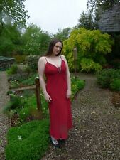 Planet Red Beaded Evening Dress Size UK 14 EU 42 Occasion Party Cocktail Cruise
