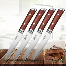 Stainless Steel 4pcs Kitchen Steak Knives Set Razor Sharp Table Meat Slicing Cut
