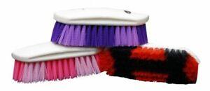 Showman Plastic Handle Medium Bristle Horse Grooming Body Brush