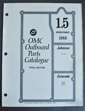 Orig 1968 OMC Parts Catalog 1.5HP Outboards Evinrude Mate 1802S Johnson SC-10S