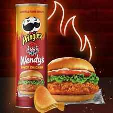 NEW PRINGLES WENDY'S SPICY CHICKEN POTATO CRISPS LIMITED EDITION FLAVOR