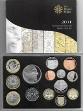 2011 Proof Coin Set With Rare Edinburgh £1 Cased With COA (14)
