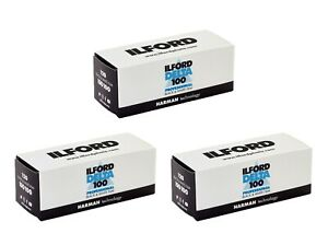 3 Rolls - Ilford Delta 100 ISO 120 Black & White Roll Film