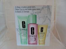 Clinique Paso 3 cuidado de la piel NO3-conjunto De Tóner/Crema Hidratante Limpiador/