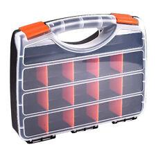 Caja de almacenamiento de piezas de herramientas de plástico varios compartimentos organizador caja de hardware de ranura