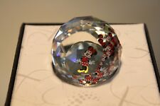 Swarovski Round Minnie Mouse Body Paperweight 40Mm Crystal 5528 Mint In Box