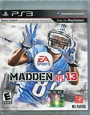 Madden NFL 13 (Sony PlayStation 3 game, 2012)