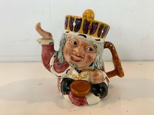 """Vintage """"Old King Cole"""" 2 Faced Staffordshire Shorter & Son English Teapot"""