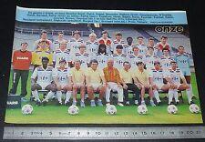CLIPPING POSTER FOOTBALL 1986-1987 D2 OLYMPIQUE LYONNAIS LYON OL GERLAND GONES