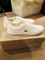 LACOSTE MENS LEROND 318 2 LEATHER TRAINERS (JD EXCLUSIVE) 7-36cam0049001 RARE
