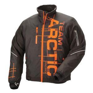 New Men's Arctic Cat Team Arctic Racing Snowmobile Jacket - Org - Lg - #5280-364