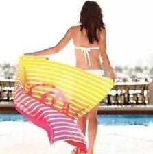 "NWT Victoria's Secret Roll Up Ombré Iconic Stripes Throw Stadium Blanket~56""x50"""