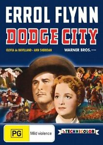 Dodge City DVD - Errol Flynn (Pal, 2007) Free Post