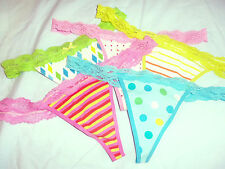 4 NEW w/TAGS Famous Maker SIZE 6 (M) THONG PANTIES / BRIEFS