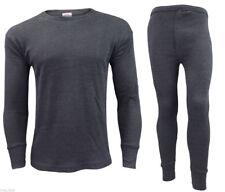 Gaffer Mens Thermal Sets Bottoms Tops T Shirt Long Johns M Full Set-charcoal