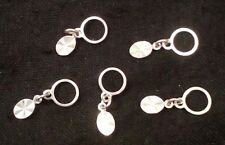 Silver Stitch Markers  -5 pieces  -Size US 0-5  -Great GIFT for a knitter!
