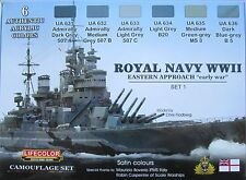 LifeColor Acrílicos LC-CS33 Royal Navy Segunda Guerra Mundial Pintura Set 1