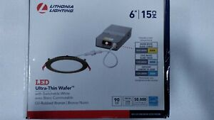 Lithonia Lighting 6 in. Wafer Oil-Rubbed Bronze Selectable New Construction