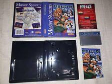 NoN original Fire & Ice Game for Sega Master System -  Silver REPRO