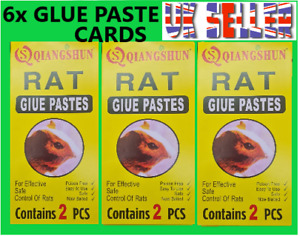 6 X RAT / MICE /MOUS  STICKY PASTE PADS CATCHER  SIZE 28CM X 14CM