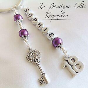 Personalised 18th birthday Gift, Keyring, Key To The Door keepsake , gift bag