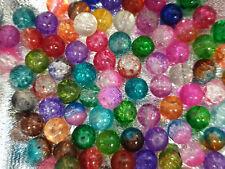 **Bi-Cone Crackle Glass Beads 4.0mm diam ** 200 pcs 1 x 200pc Strand CLEAR