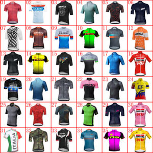 2021 Men Team Cycling Jersey Cycling Short Sleeve Jersey bicycle Shirt Bike Tops