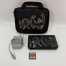 Nintendo 3DS XL Solgaleo Lunala Black Edition Gaming System, Case, Charger, Game