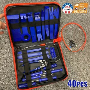 Puller Set Disassembly Tool POM Interior Trim 5 PCS Car Trim Wedges Set for Removal Car Door Panel and Plates with Double Screwdriver
