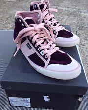 scarpe donna date 38 velluto viola rosa usate