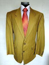 San Siro Einreiher Herren Sakko Jacket Wolle Gelb Gr. 52 NEU!