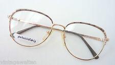 Gestell Oma Brille Vintage lunettes gold braun große Glasform lunettes 70s sizeM