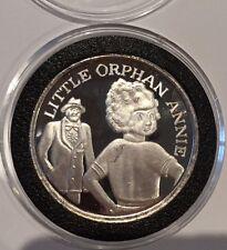 Little Orphan Annie Comic Strip Cartoon 1 Troy Oz Ag .999 Fine Silver Round Coin
