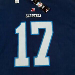 NFL Team Apparel Mens Philip Rivers Chargers Football T-shirt 2XL XXL New
