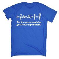 First Step Maths Problem MENS T Shirt birthday math geek nerd teacher funny gift