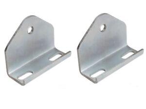 Coppia Staffe multiforo 100 x 100 mm per rullo centrale reggichiglia