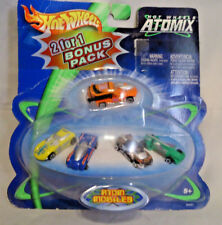 HOT WHEELS ATOMIX ATOM MOBILES MICRO VEHICLES SET OF 5