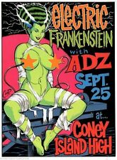 COOP mini Art Poster Print Devil Girl Electric Frankenstein Adz Coney Island